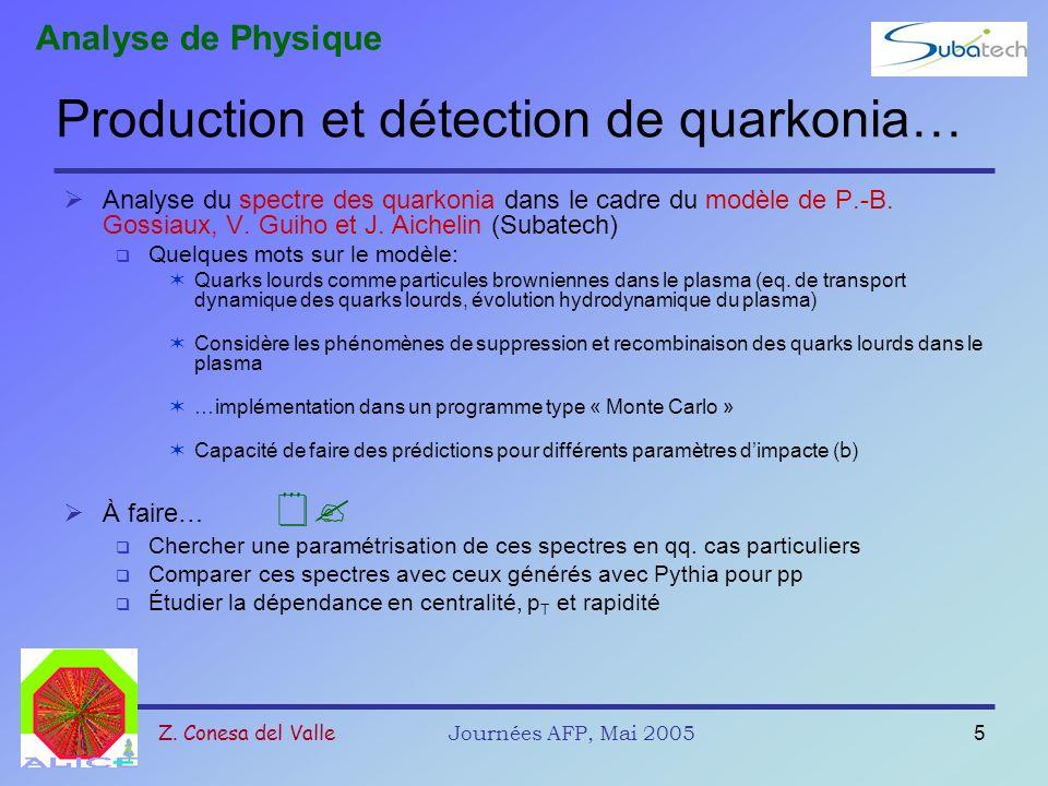 Production et détection de quarkonia…