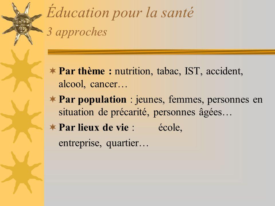 Éducation pour la santé 3 approches