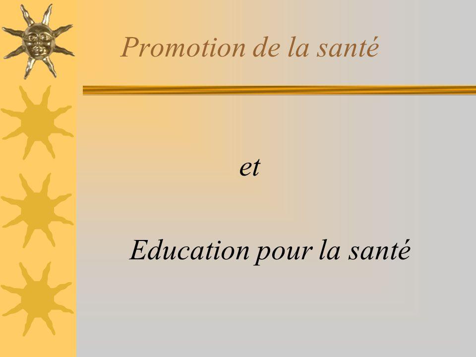 Promotion de la santé et Education pour la santé