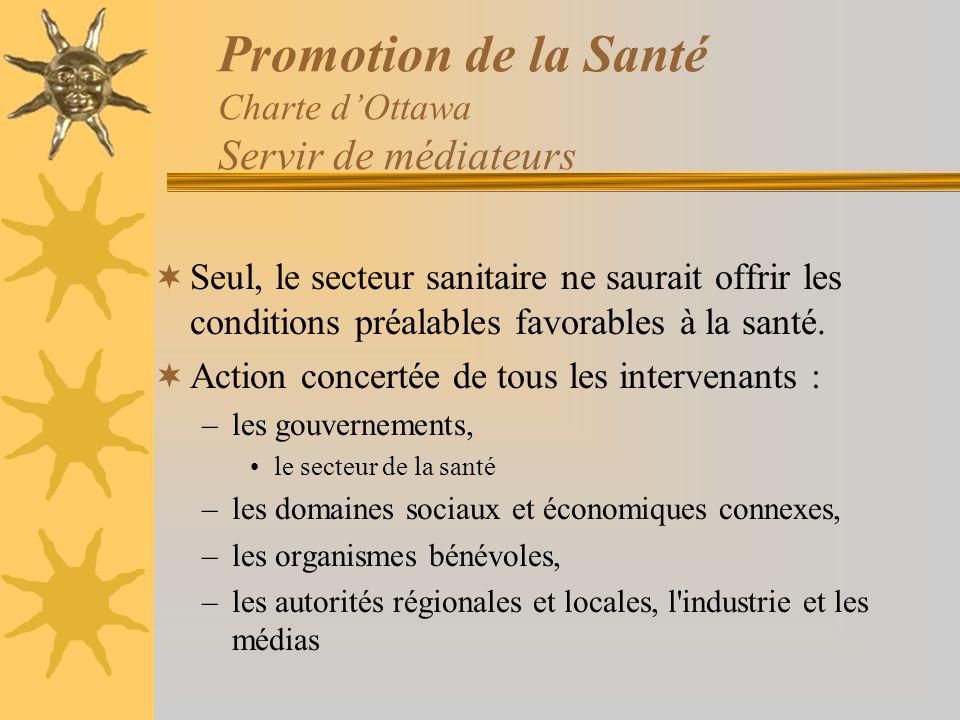 Promotion de la Santé Charte d'Ottawa Servir de médiateurs