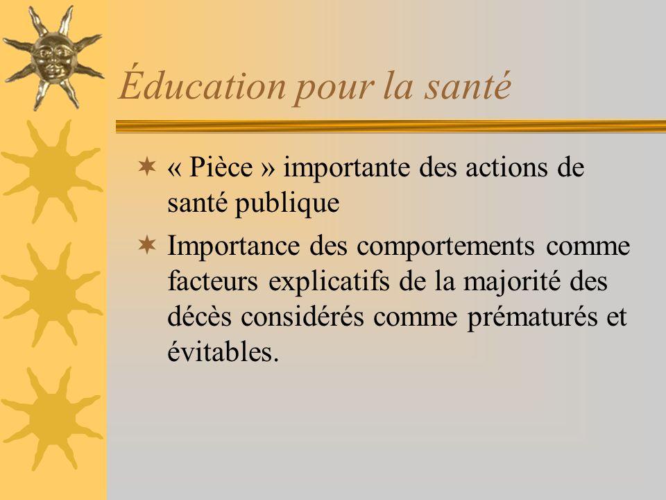 Éducation pour la santé