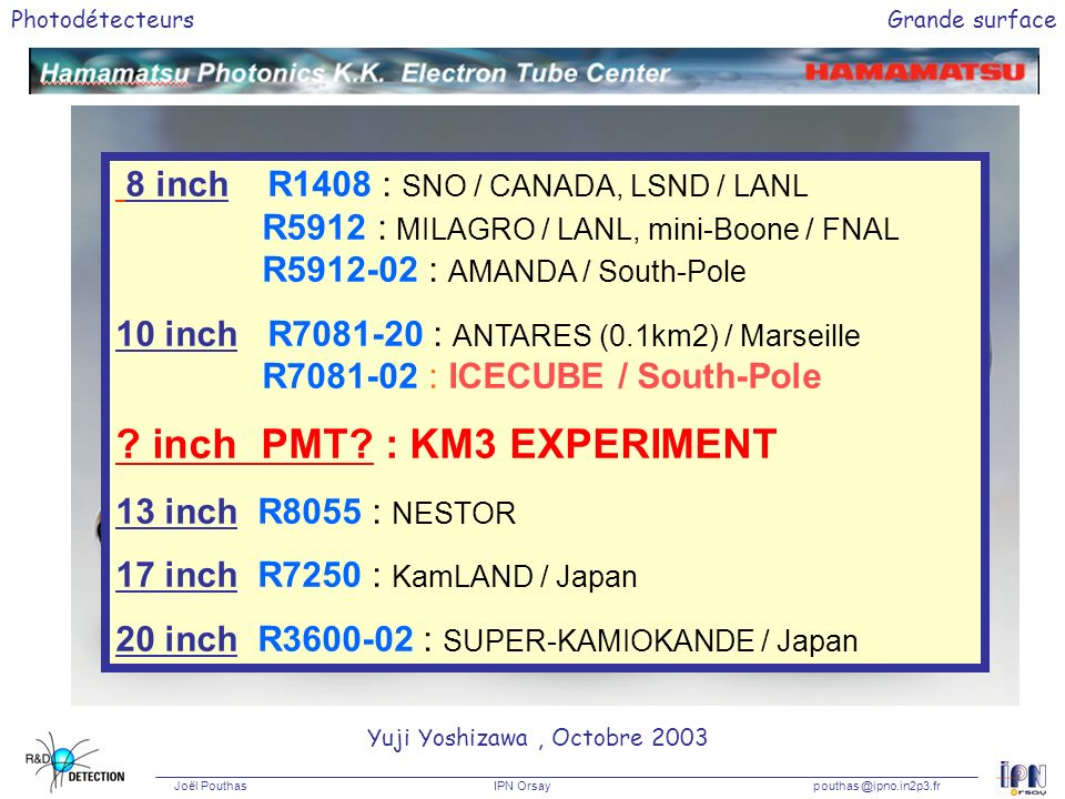 inch PMT : KM3 EXPERIMENT