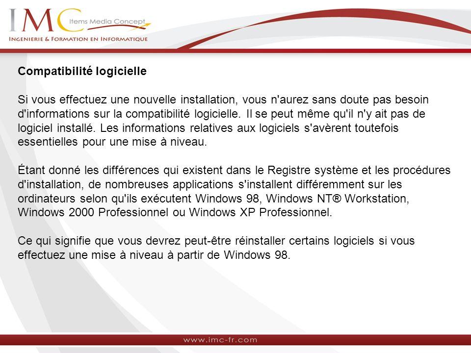 Compatibilité logicielle
