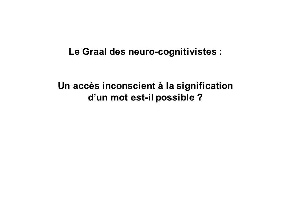 Le Graal des neuro-cognitivistes :