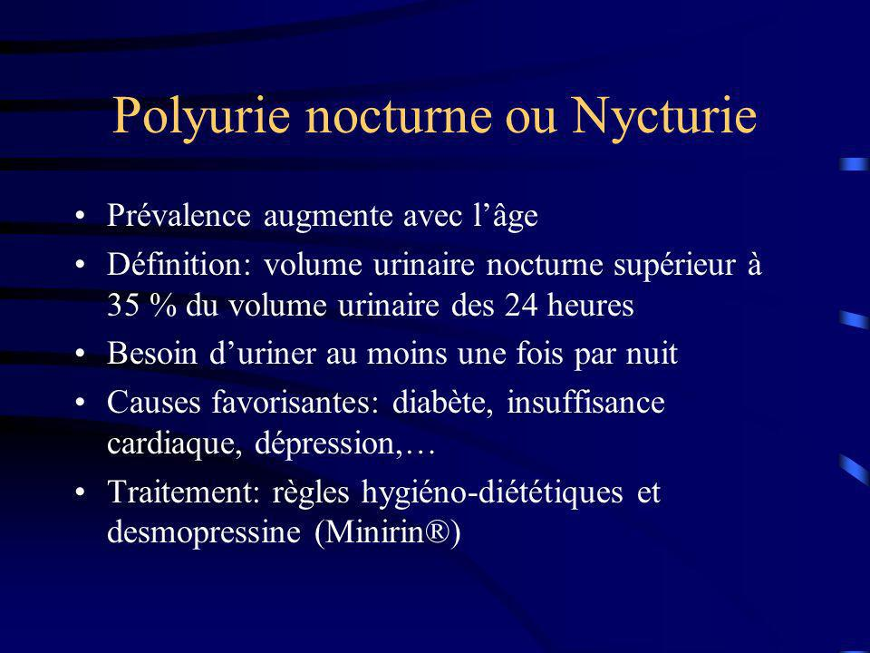 Polyurie nocturne ou Nycturie