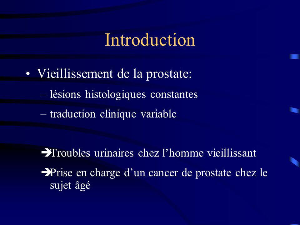 Introduction Vieillissement de la prostate:
