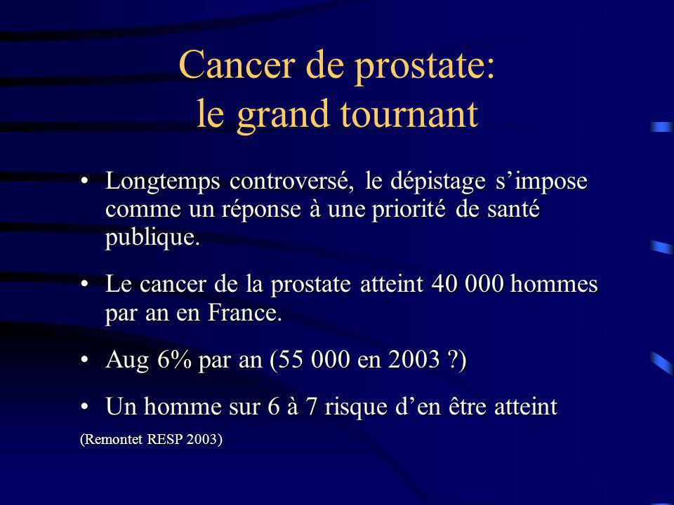 Cancer de prostate: le grand tournant