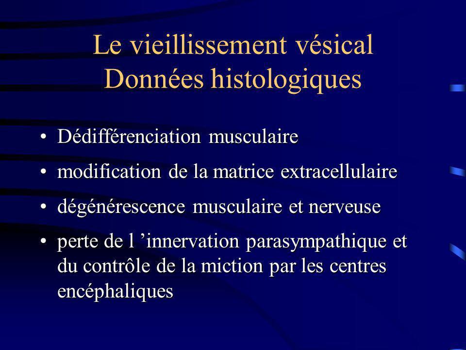 Le vieillissement vésical Données histologiques