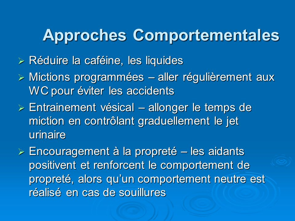 Approches Comportementales