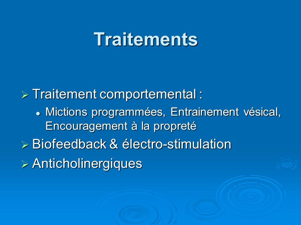 Traitements Traitement comportemental :