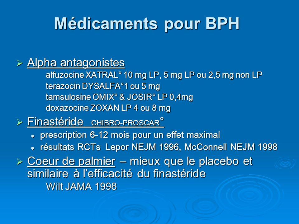 Médicaments pour BPH Alpha antagonistes Finastéride CHIBRO-PROSCAR°