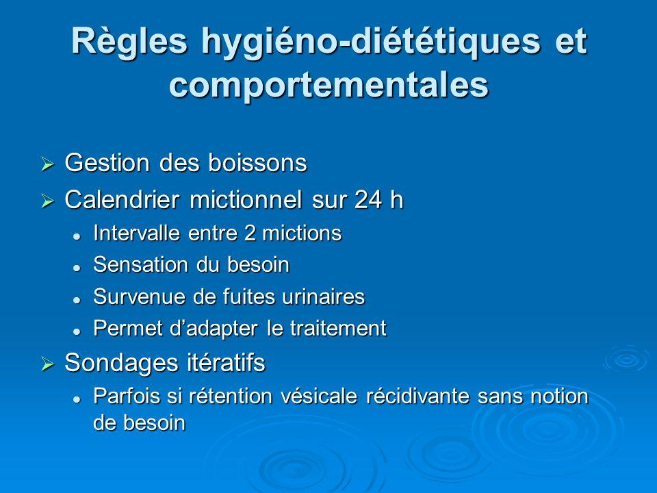Règles hygiéno-diététiques et comportementales