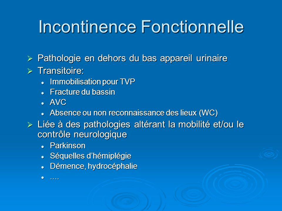 Incontinence Fonctionnelle