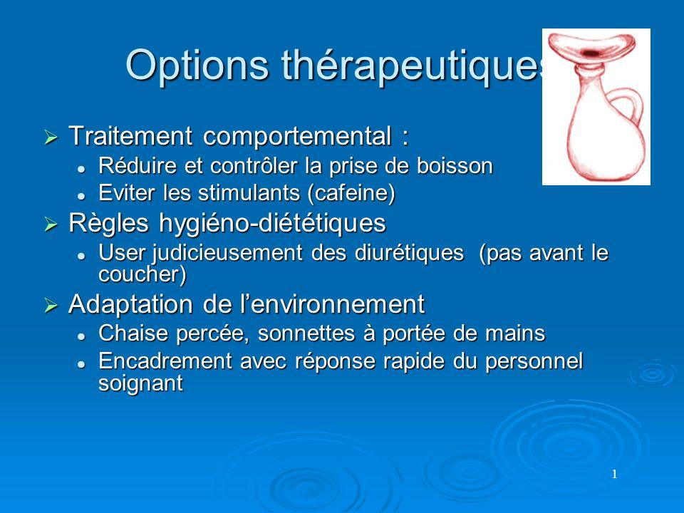 Options thérapeutiques