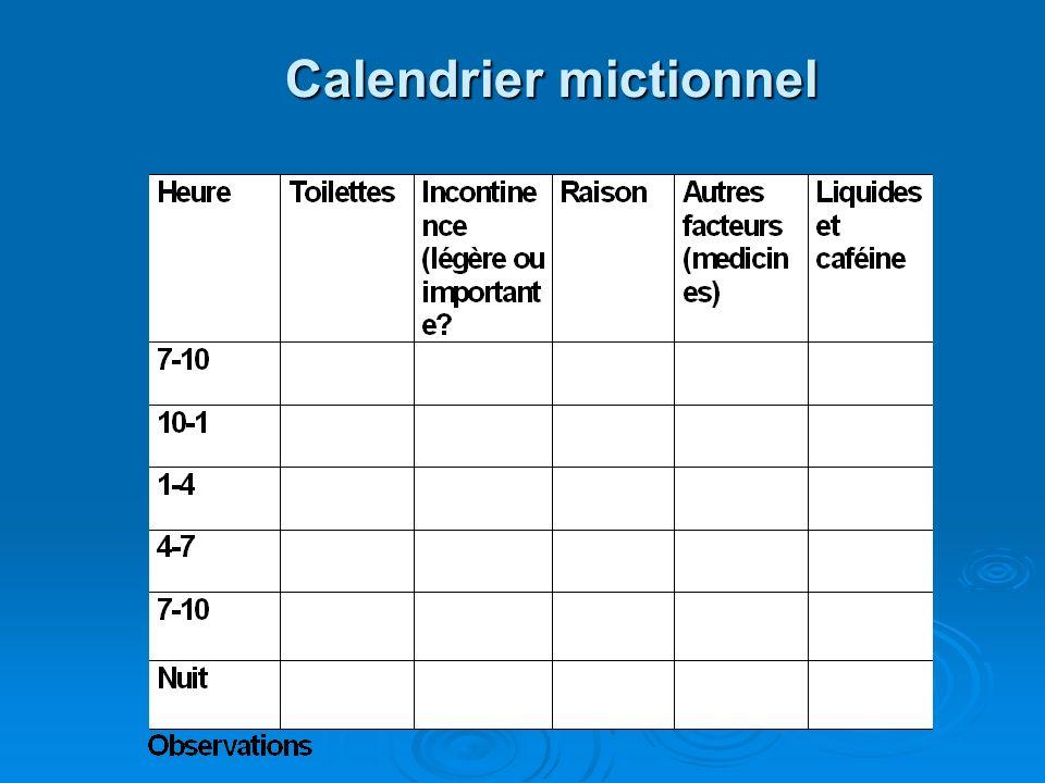 Calendrier mictionnel
