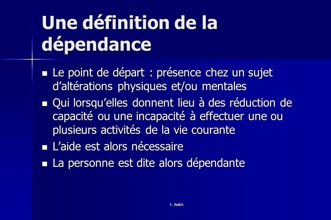 Une définition de la dépendance