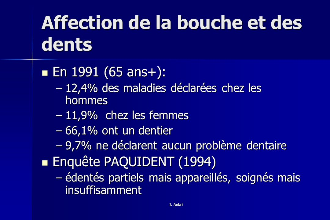 Affection de la bouche et des dents