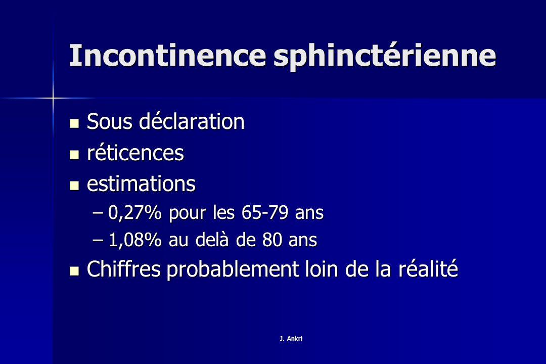 Incontinence sphinctérienne