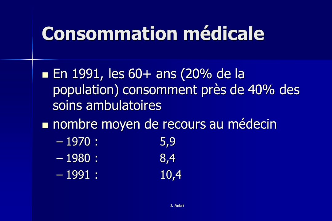 Consommation médicale