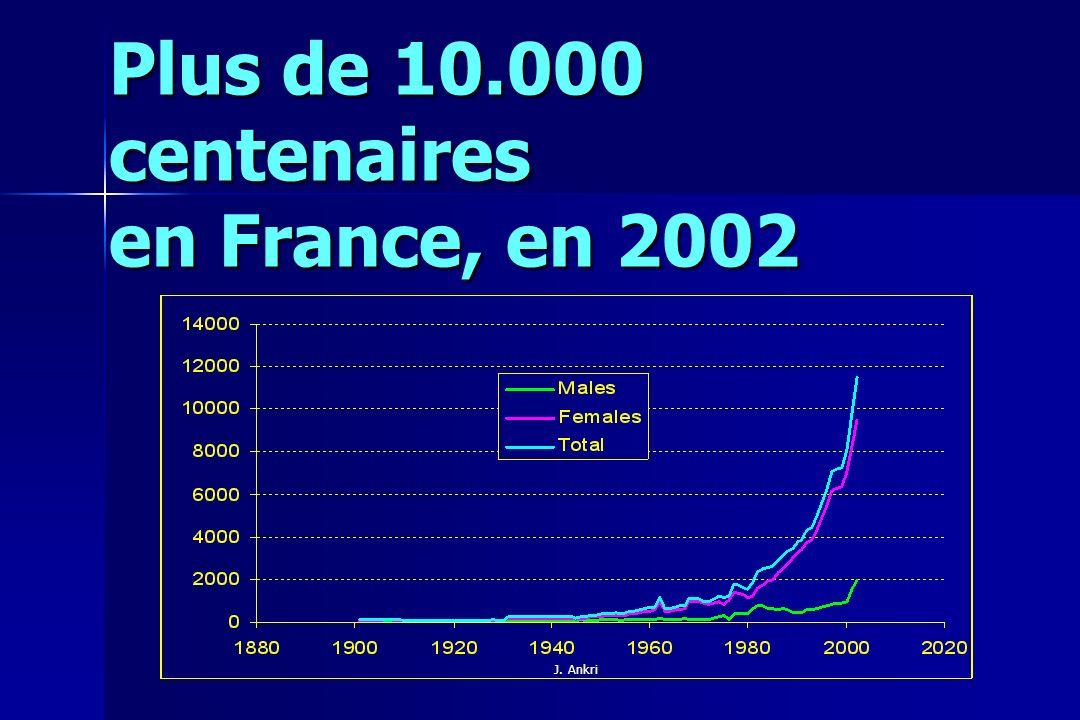 Plus de 10.000 centenaires en France, en 2002