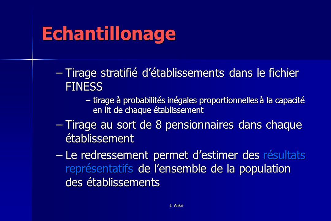 Echantillonage Tirage stratifié d'établissements dans le fichier FINESS.