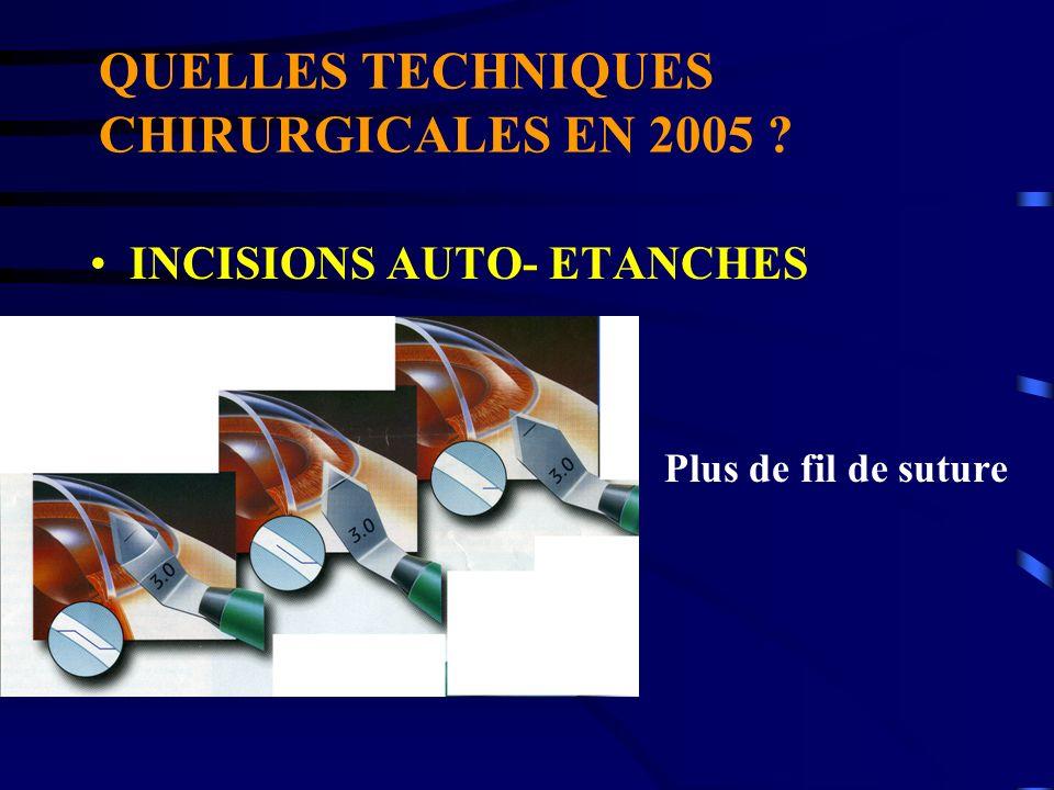 QUELLES TECHNIQUES CHIRURGICALES EN 2005