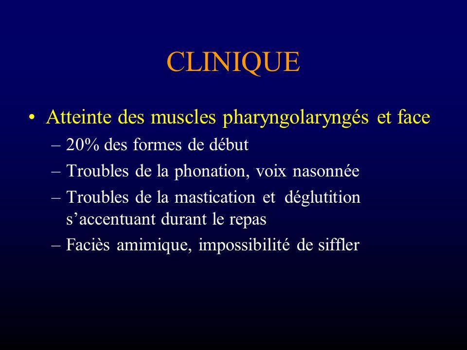 CLINIQUE Atteinte des muscles pharyngolaryngés et face
