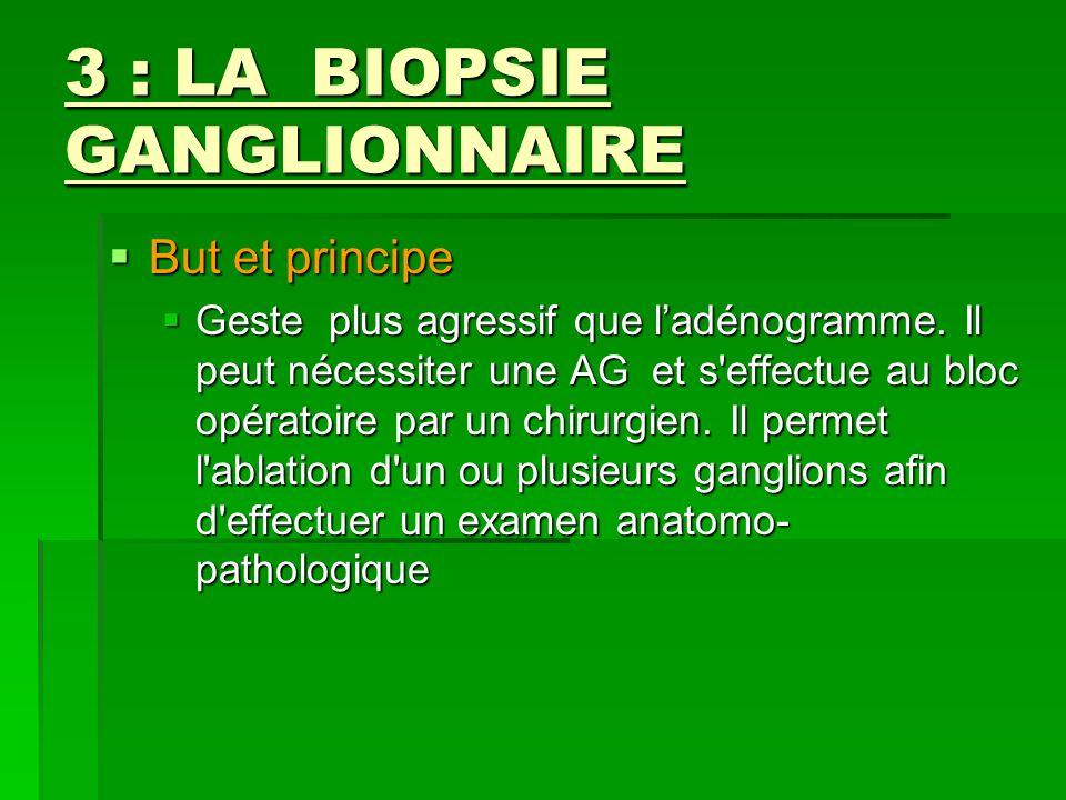 3 : LA BIOPSIE GANGLIONNAIRE