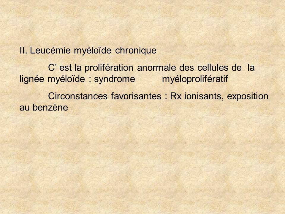II. Leucémie myéloïde chronique