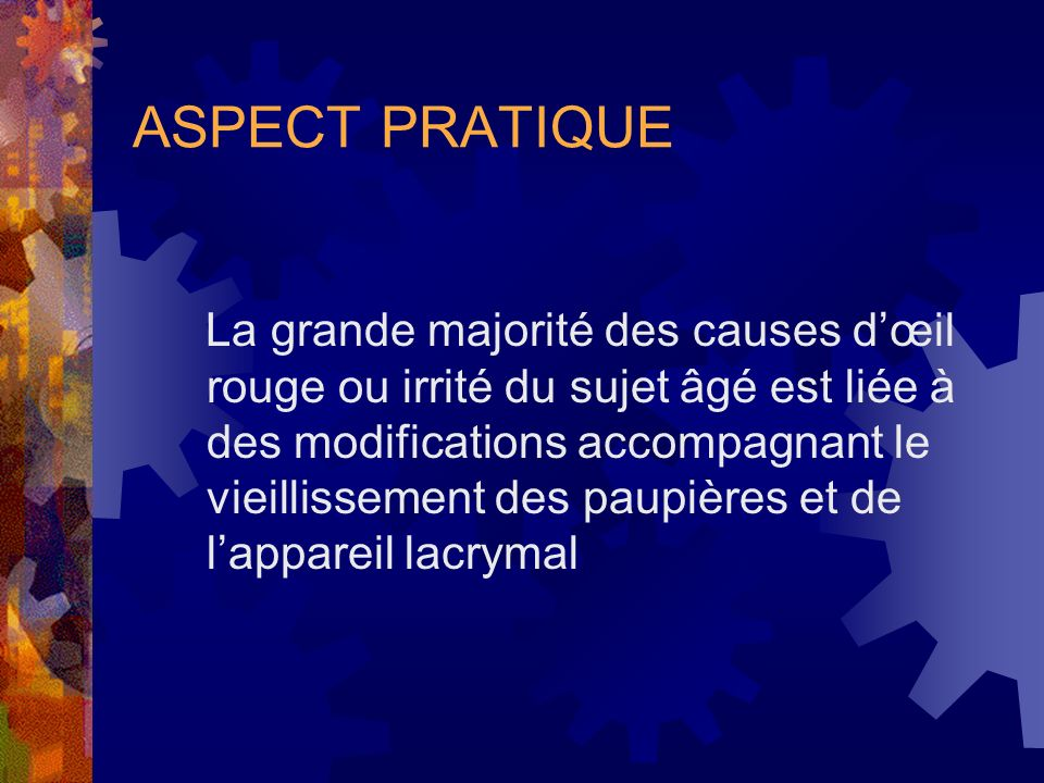 ASPECT PRATIQUE