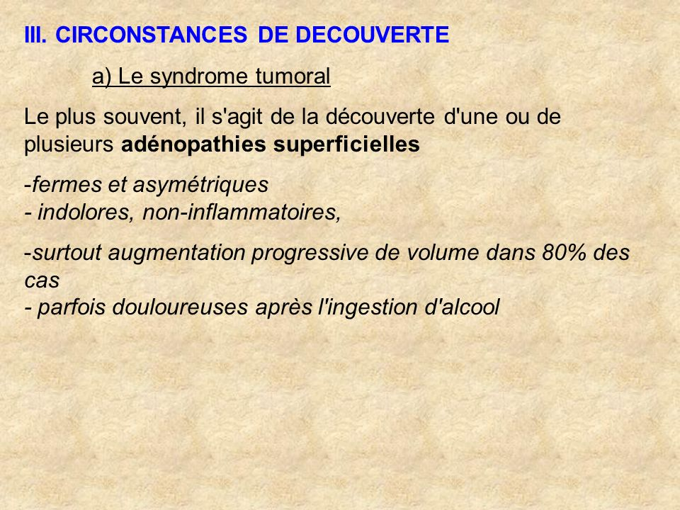 III. CIRCONSTANCES DE DECOUVERTE