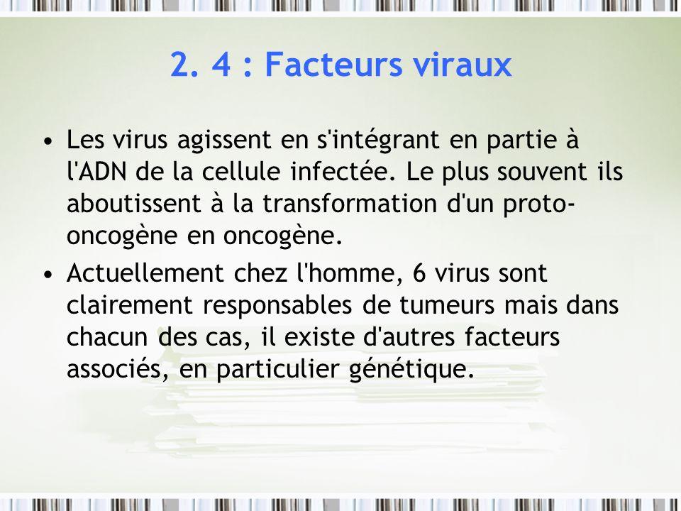 2. 4 : Facteurs viraux