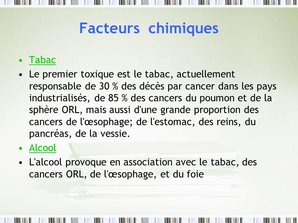 Facteurs chimiques Tabac