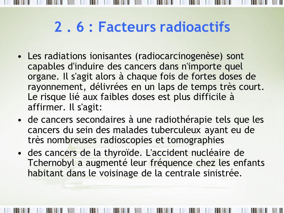 2 . 6 : Facteurs radioactifs