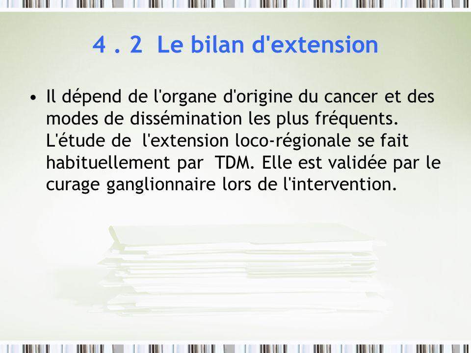 4 . 2 Le bilan d extension