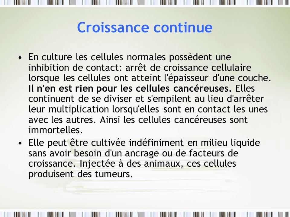 Croissance continue