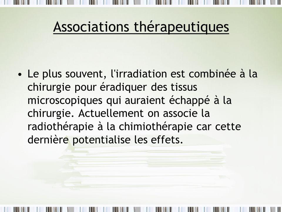 Associations thérapeutiques
