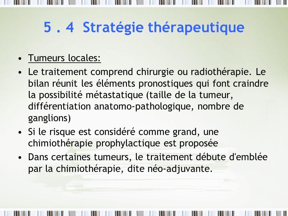 5 . 4 Stratégie thérapeutique