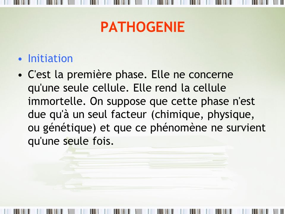 PATHOGENIE Initiation