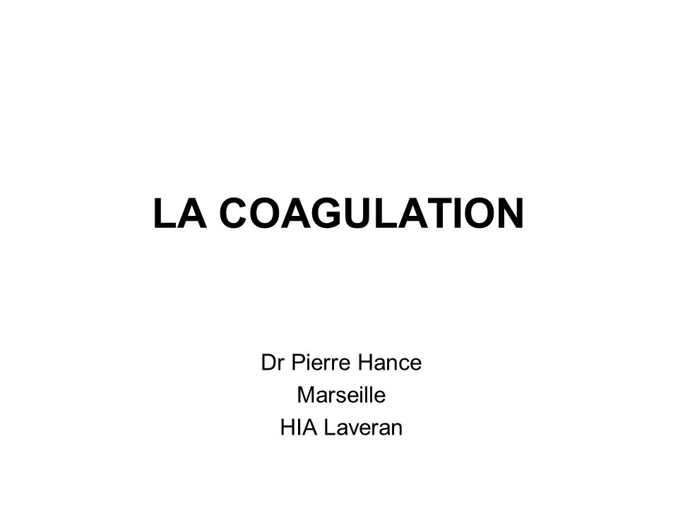 Dr Pierre Hance Marseille HIA Laveran