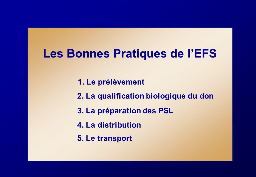 Les Bonnes Pratiques de l'EFS