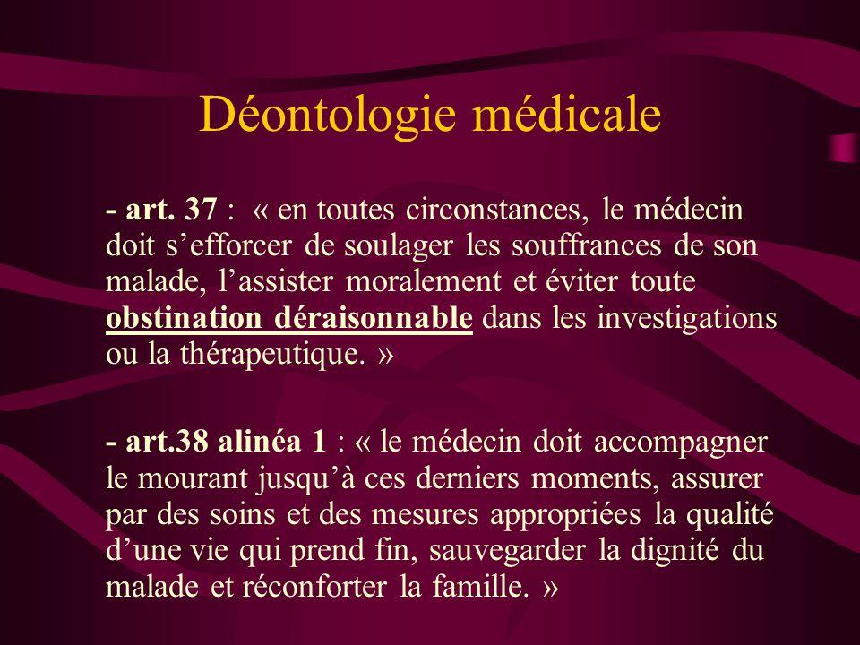 Déontologie médicale