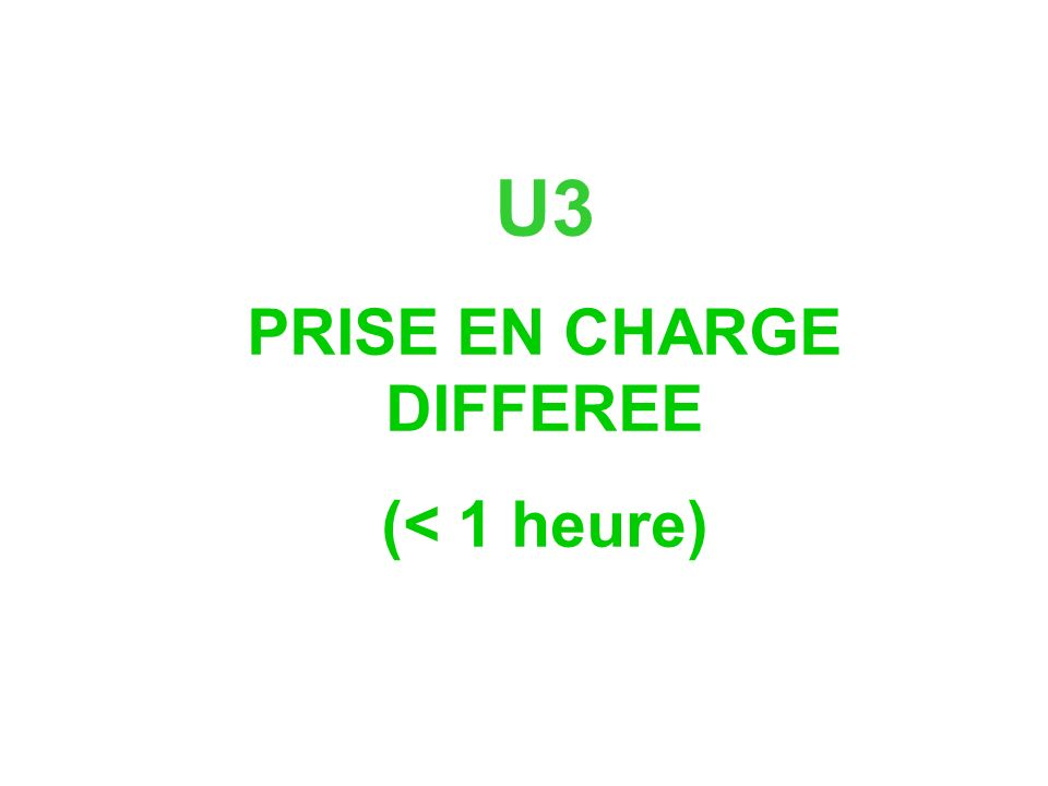 PRISE EN CHARGE DIFFEREE