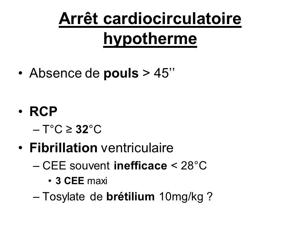 Arrêt cardiocirculatoire hypotherme