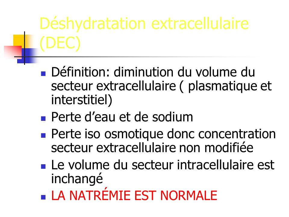 Déshydratation extracellulaire (DEC)