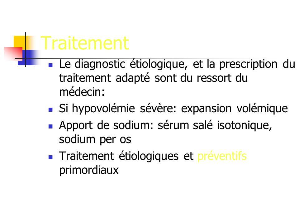 Traitement Le diagnostic étiologique, et la prescription du traitement adapté sont du ressort du médecin: