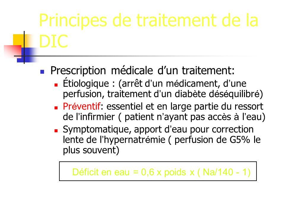 Principes de traitement de la DIC
