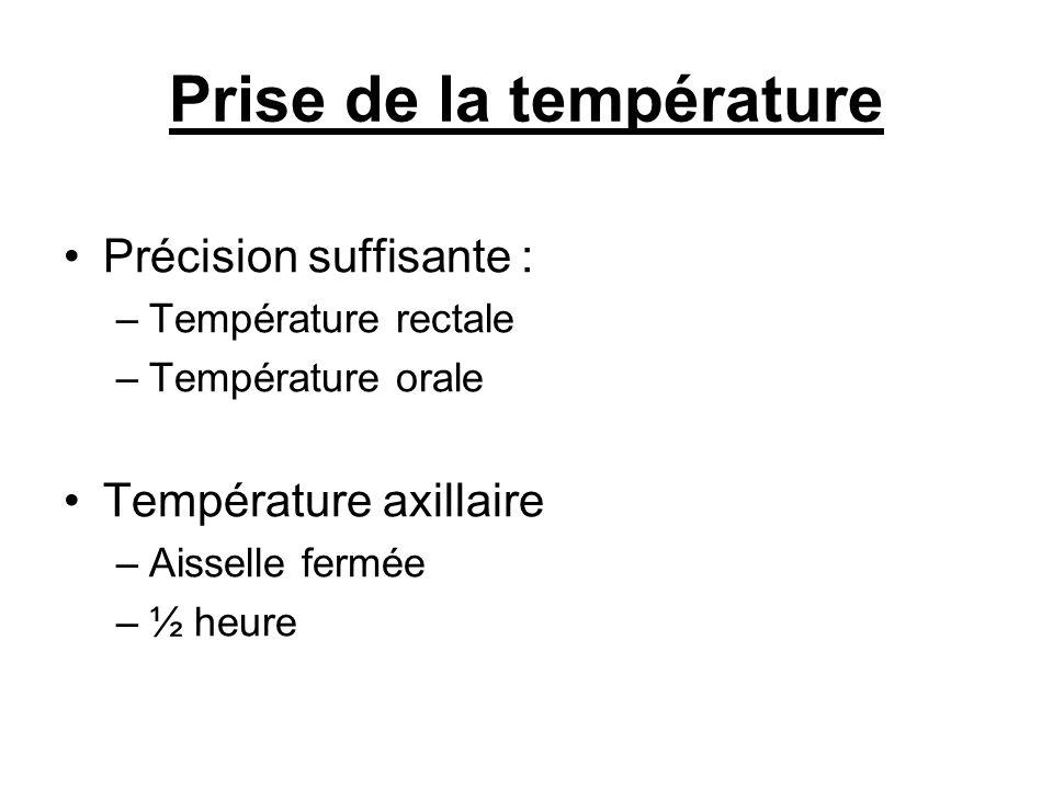 Prise de la température