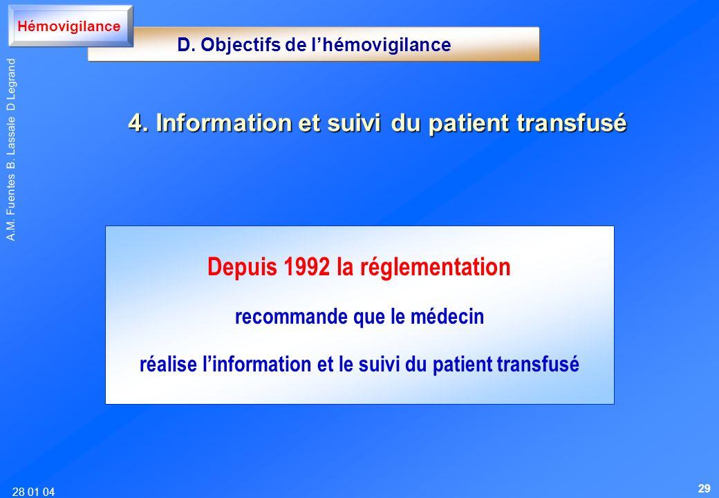 4. Information et suivi du patient transfusé