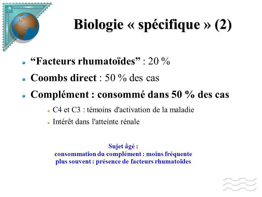 Biologie « spécifique » (2)